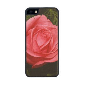 Solo color de rosa rosado funda de arce carved® para iPhone 5
