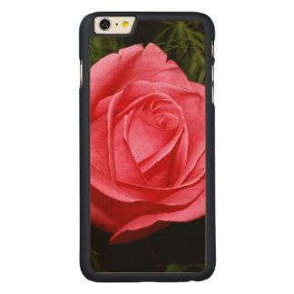 Solo color de rosa rosado funda de arce carved® para iPhone 6 plus slim