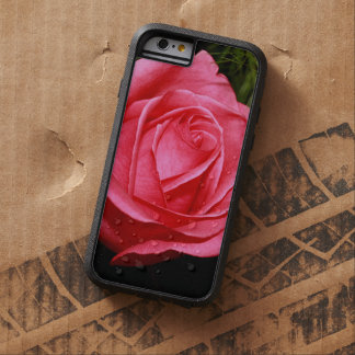 Solo color de rosa rosado funda de iPhone 6 tough xtreme