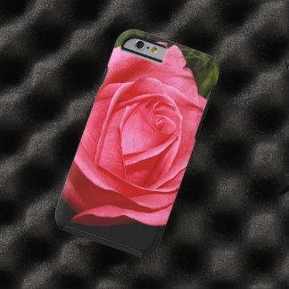 Solo color de rosa rosado funda para iPhone 6 tough