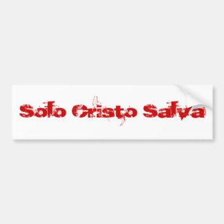Solo Cristo Salva (Rojo) Bumper Sticker