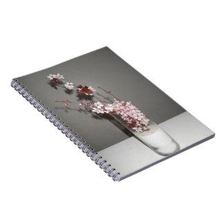 Solo cuaderno de la flor de cerezo