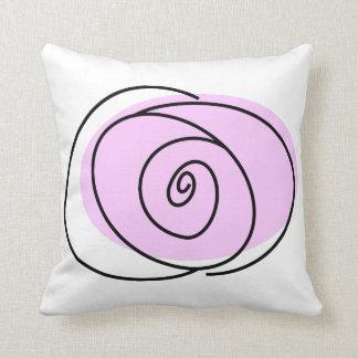 Solo cuadrado delantero de la lila color de rosa almohadas