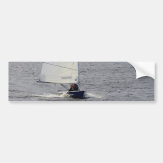 Solo Dinghy At Speed Car Bumper Sticker