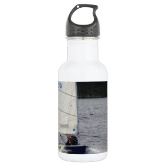 Solo Dinghy At Speed 18oz Water Bottle