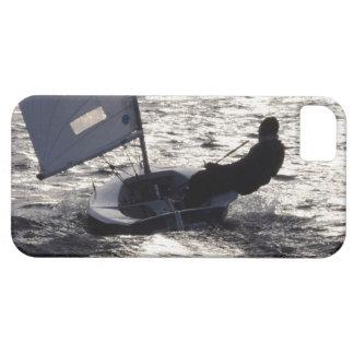Solo Dinghy Sailing Into The Sun iPhone SE/5/5s Case