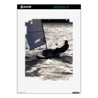 Solo Dinghy Sailing Into The Sun Decals For The iPad 2