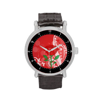 Solo diseño de las imágenes del rosa rojo relojes