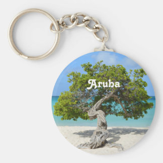 Solo Divi Divi Tree in Aruba Basic Round Button Keychain