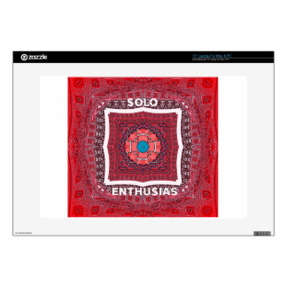 """Solo Enthusiasm Decals For 15"""" Laptops"""