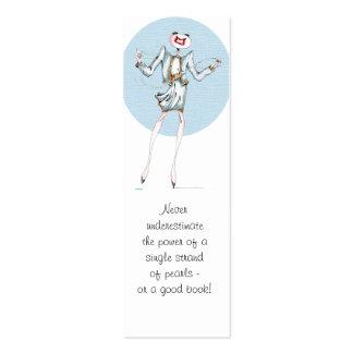 Solo filamento de la señal de las perlas tarjetas de visita mini