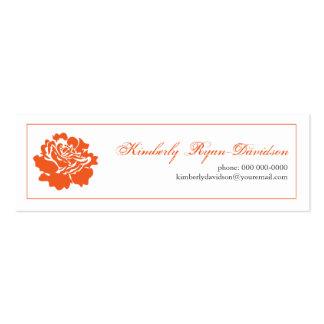 Solo flor en tarjeta de visita anaranjada