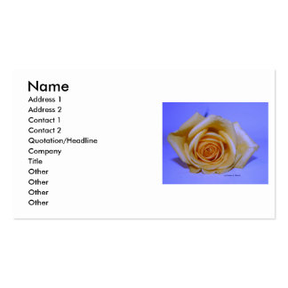 Solo fondo azul claro del rosa amarillo tarjeta de visita