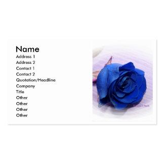 Solo fondo color de rosa pálido azul marino tarjetas de visita