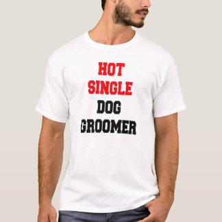 Solo Groomer caliente del perro Playera