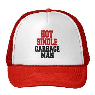 Solo hombre de basura caliente gorras de camionero