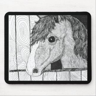 Solo Horse Art Mouse Pad