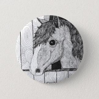 Solo Horse Art Pinback Button