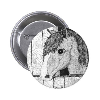 Solo Horse Art Pinback Button