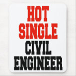 Solo ingeniero civil caliente alfombrilla de ratones
