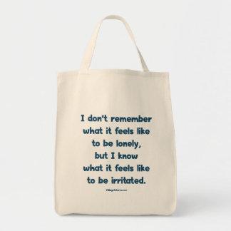 Solo irritado bolsa tela para la compra