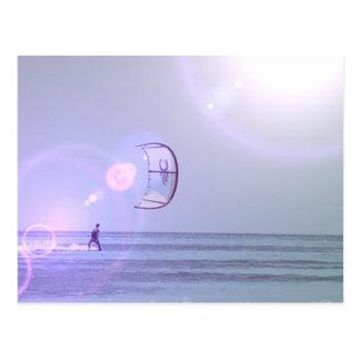 Solo Kiteboard Postcard