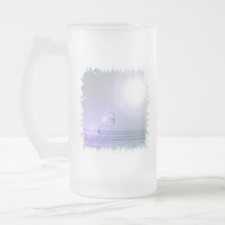 Solo Kiteboarder  Frosted Beer Mug