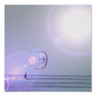Solo Kiteboarder Poster