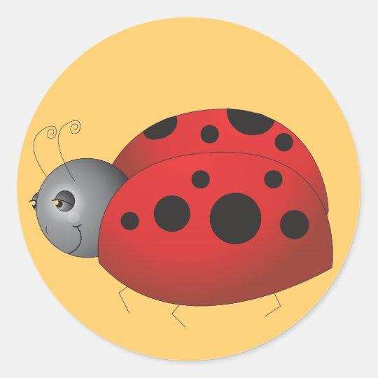 Solo LadyBug Classic Round Sticker
