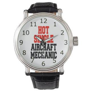 Solo mecánico de aviones caliente relojes de pulsera
