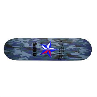 Solo Mission Blue Camo Board Skate Board Deck