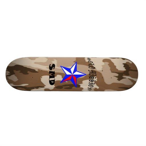 Solo Mission Brown Camo Board Skate Deck