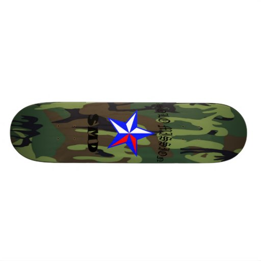 Solo Mission Green Camo 2 Board Skate Board