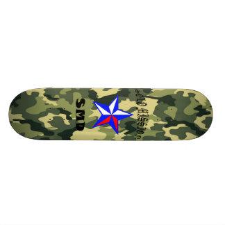 Solo Mission Green Camo Board Custom Skateboard