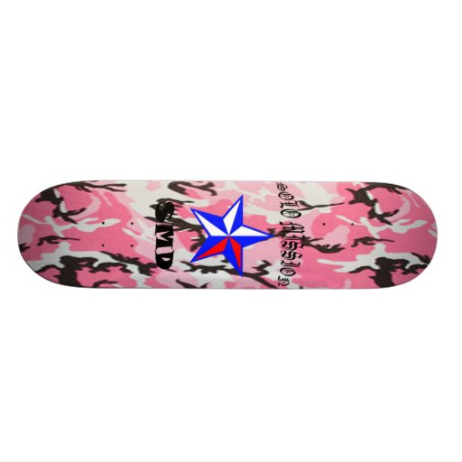 Solo Mission Pink Camo Board Custom Skateboard