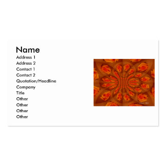 Solo modelo color de rosa anaranjado tarjeta personal