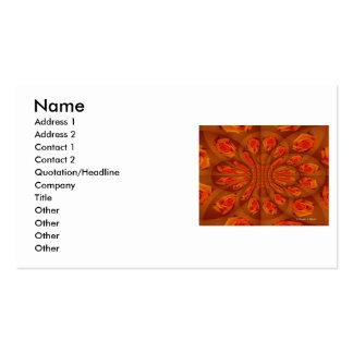 Solo modelo color de rosa anaranjado tarjeta de visita