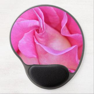 Solo mousepad rosado del gel de los pétalos color alfombrilla gel
