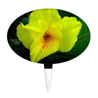 solo naranja amarillo y verde de la flor w palillos de tarta
