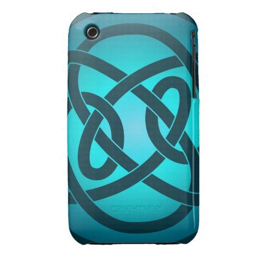 Solo nudo de lazo azul iPhone 3 Case-Mate cárcasas