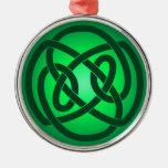 Solo nudo de lazo verde adornos de navidad