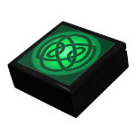 Solo nudo de lazo verde caja de regalo