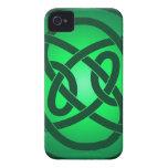 Solo nudo de lazo verde iPhone 4 Case-Mate protector