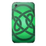 Solo nudo de lazo verde iPhone 3 cobreturas