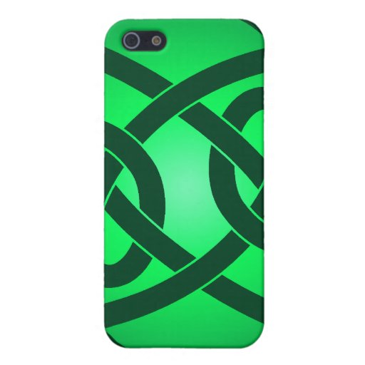 Solo nudo de lazo verde iPhone 5 carcasa