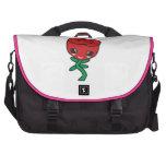 solo personaje de dibujos animados del rosa rojo d bolsa para ordenador