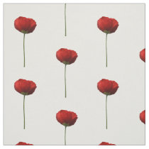 Solo Red Iceland Poppy Pattern Fabric