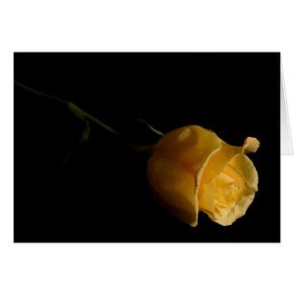 Solo rosa amarillo - tarjeta de nota
