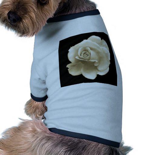 Solo rosa blanco caliente camisa de perrito