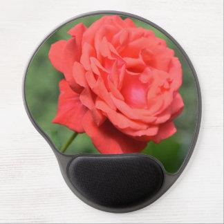 Solo rosa rojo alfombrilla de raton con gel